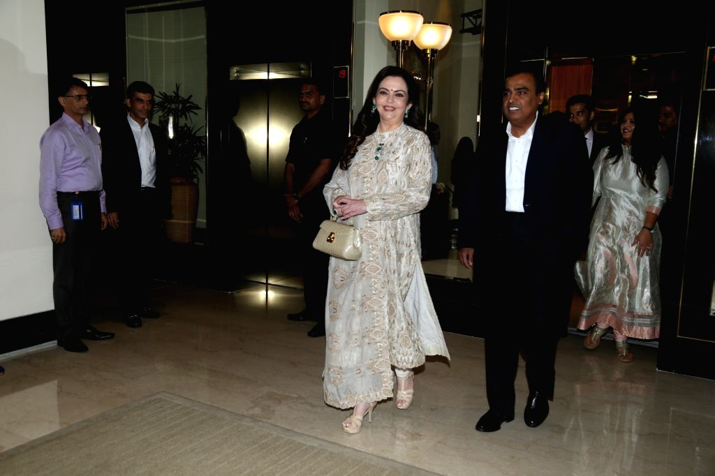 Mumbai: Industrialist Mukesh Ambani and his wife Nita Ambani at the book launch on Dr Vijay Haribhakti in Mumbai, on Aug 31, 2019. (Photo: IANS) - Mukesh Ambani and Nita Ambani
