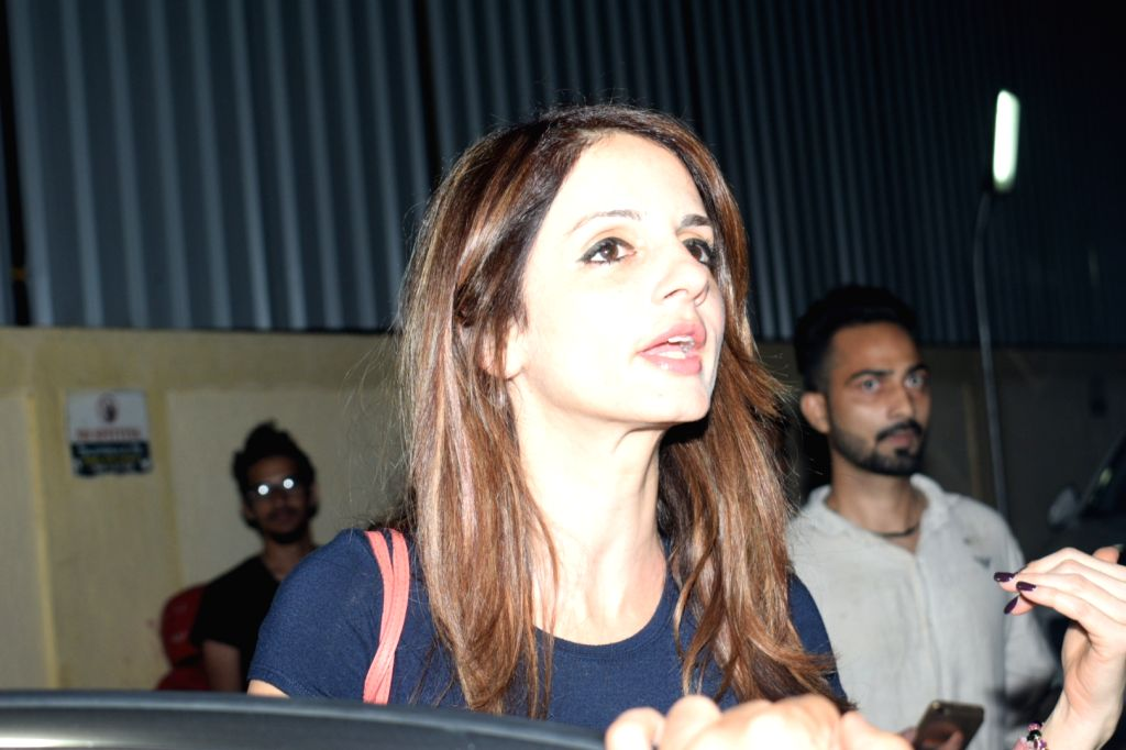 Mumbai: Interior designer Sussanne Khan seen at a Juhu cinema hall in Mumbai on April 0, 2019. (Photo: IANS) - Sussanne Khan