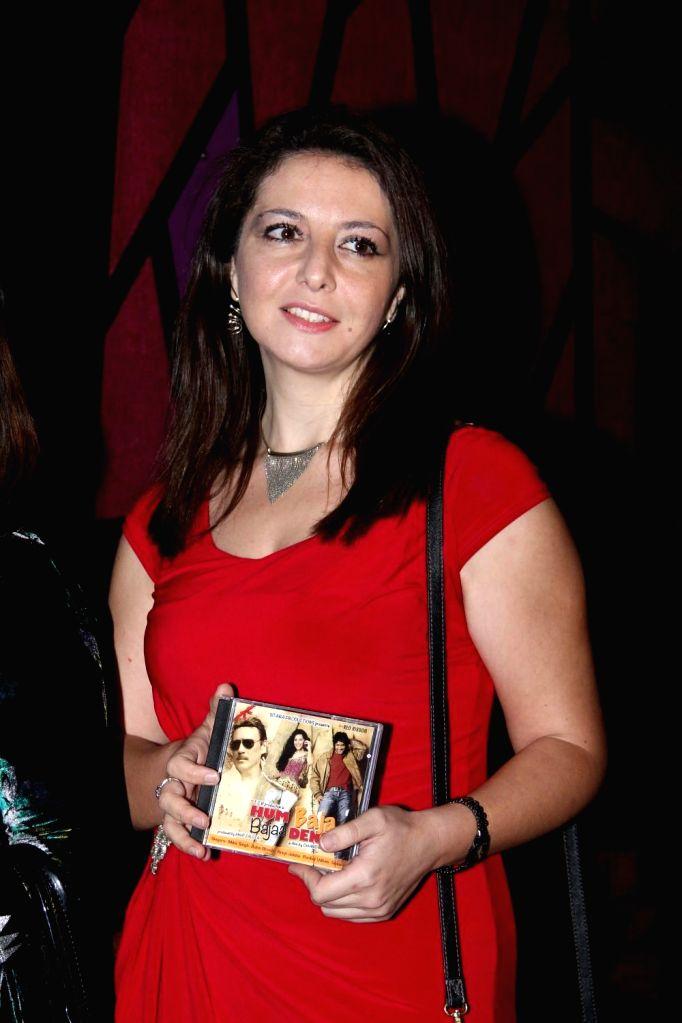 Italian opera singer Gioconda Vessichelli during the music launch of film Hum Baaja Baja Denge in Mumbai, on March 17, 2015.