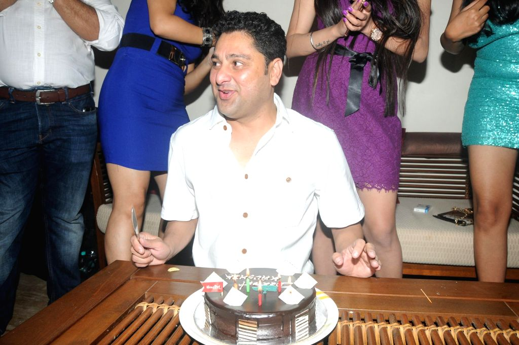 Kaushik Banerjee celebrating his Birthday during the birthyday of director Kaushik Banerjee in Mumbai on Jan 10, 2015.