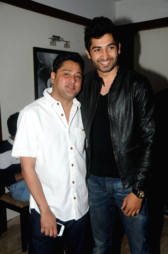 Kaushik Banerjee with Friend during the birthyday of director Kaushik Banerjee in Mumbai on Jan 10, 2015.