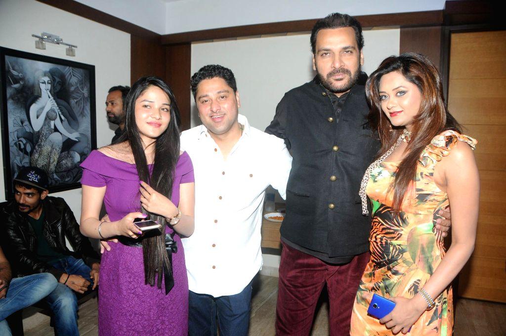 Kaushik Banerjee with Shahbaz Khan and Friends during the birthyday of director Kaushik Banerjee in Mumbai on Jan 10, 2015. - Shahbaz Khan
