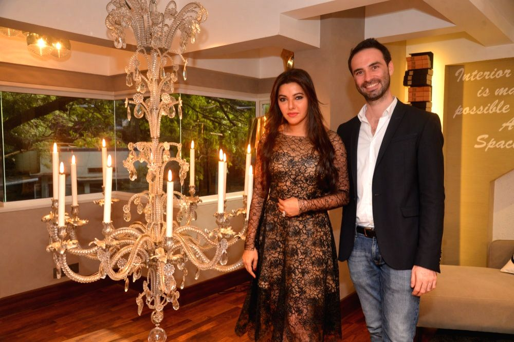 Kaykasshan Patel and Alexis De Ducla during the launch of Gauri`s private workspace `Gauri Khan` at Bandra in Mumbai on, April 29, 2015. - Kaykasshan Patel
