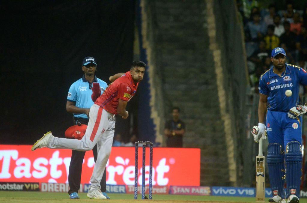 Mumbai: Kings XI Punjab's Ravichandran Ashwin in action during the 24th match of IPL 2019 between Mumbai Indians and Kings XI Punjab at Wankhede Stadium in Mumbai on April 10, 2019. (Photo: Sandeep Mahankal/IANS)