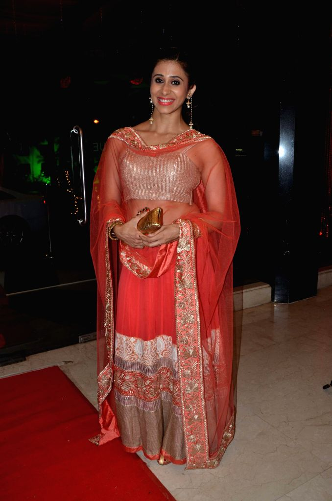 Kishwer Merchant during Karan Patel and Ankita Bhargava`s engagement and sangeet ceremony at the Novotel Hotel in Juhu, Mumbai on 1st May, 2015.