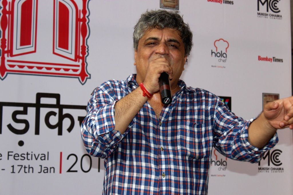 Mumbai:Lyricist Swanand Kirkire during the inauguration of `Khidkiyaan`- Theatre Festival 2016, in Mumbai on Jan 13, 2016. (Photo: IANS)