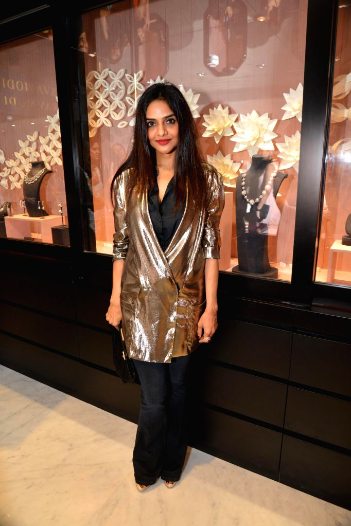 Madhoo Shah during the inauguration of Nirav Modi Jewellry shop in Mumbai on March 14, 2015. - Madhoo Shah
