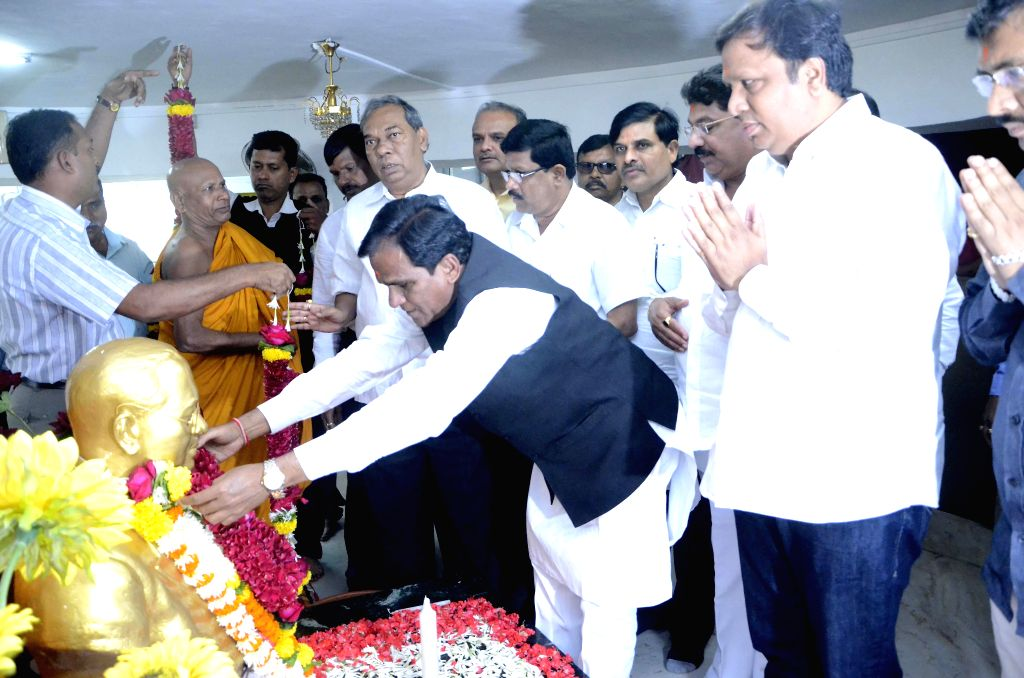 Maharashtra BJP chief Raosaheb Dadarao Danve visits Dr. Babasaheb Ambedkar Museum and Memorial at Chaityabhoomi in Mumbai, on Jan 9, 2015.