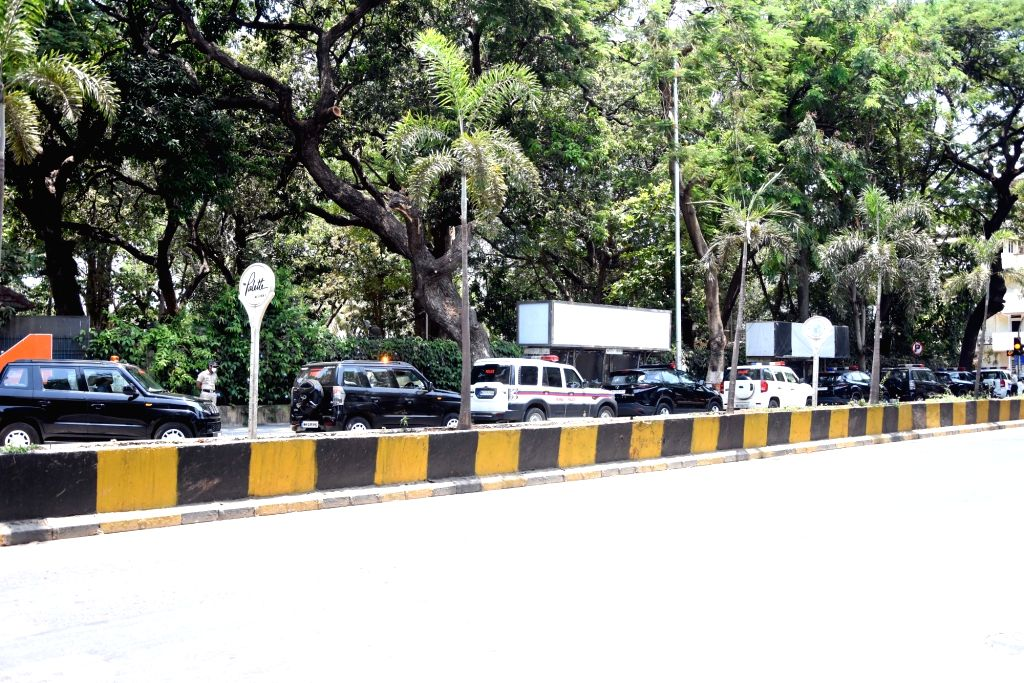 Mumbai: Maharashtra Cabinet Ministers arrive at at Balasaheb National Memorial to attend a meeting called by Chief Minister Uddhav Thackeray to discuss ways and means of extension of lockdown upto May 31 and relaxation to be given in Orange and Green - Uddhav Thackeray