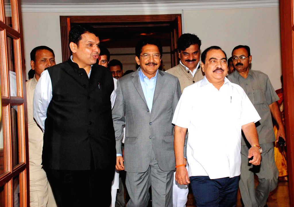 Maharashtra Chief Minister Devendra Fadnavis during the launch of `Clean India Campaign documentary` produced by actor Makrand Anaspure in Mumbai on Feb. 4, 2015. - Devendra Fadnavis