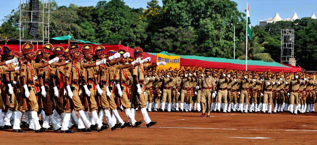 Maharashtra Day celebrations underway in Mumbai, on May 1, 2015.