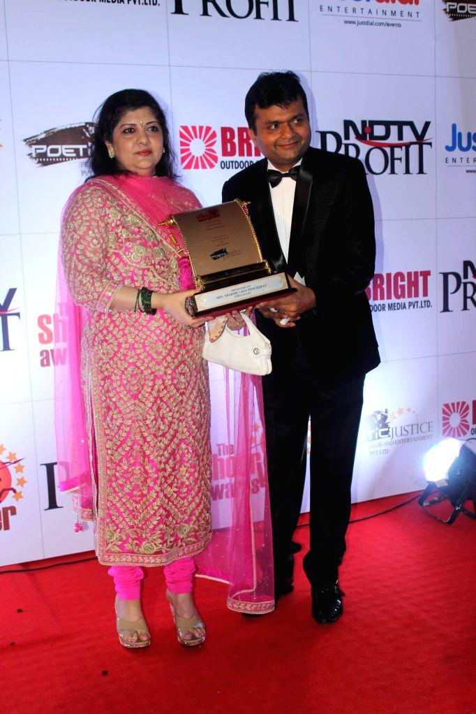 Maharashtra Navnirman Sena during the The Shoorveer Awards 2015 in Mumbai on March 14, 2015.