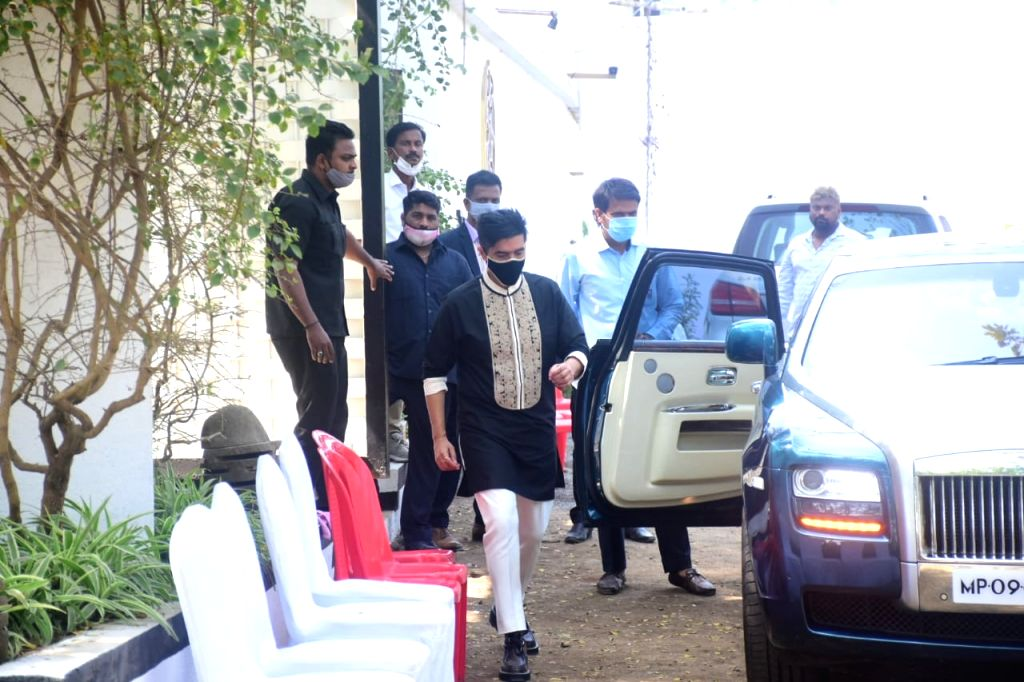 MUMBAI:Manish Malhotra seen at Varun Dhawan's Marriage on Sunday, 24 January 2021. (Photo: IANS) - Manish Malhotra