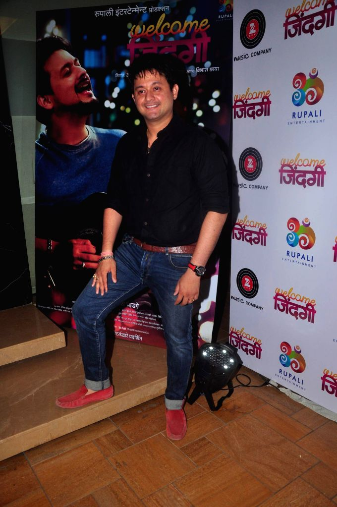 Marathi actor Swapnil Joshi during the first look and music launch of Marathi film Welcome Zindagi in Mumbai, on May 2, 2015. - Swapnil Joshi