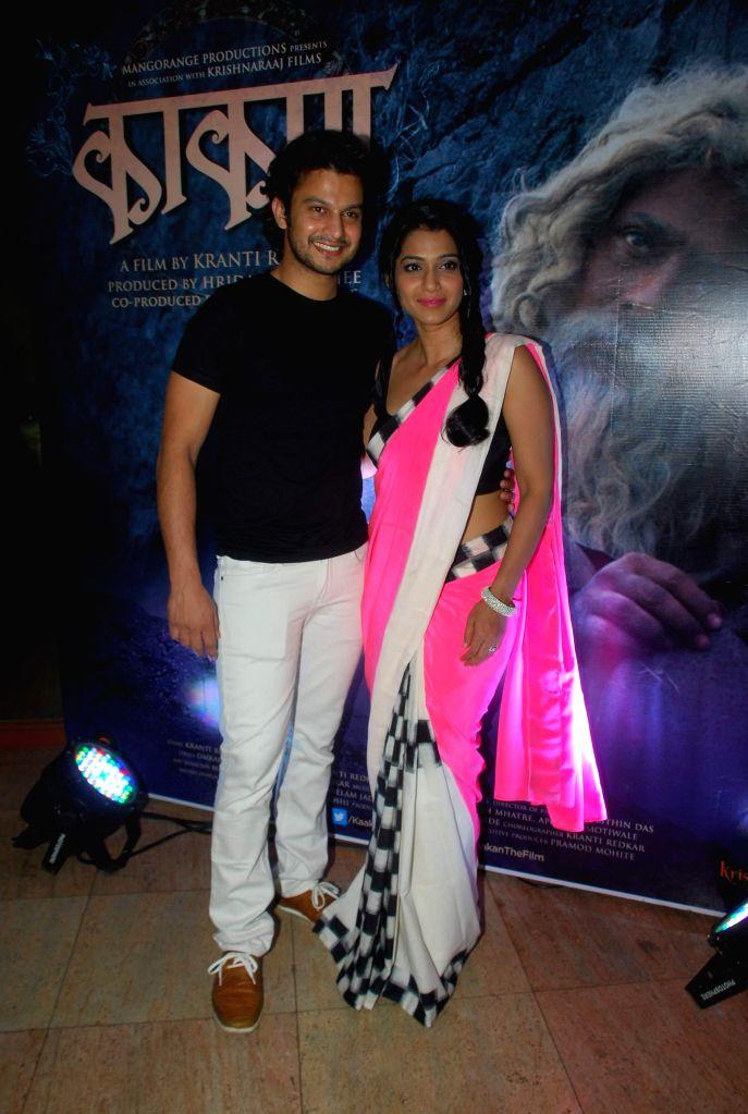 Marathi actor Urmila Kanitkar during the music launch of Marathi film Kaakan in Mumbai on March 11, 2015. - Urmila Kanitkar