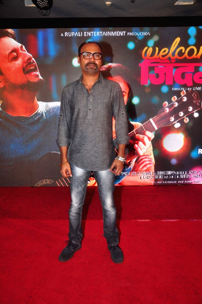 Marathi filmmaker Umesh Ghadge during the first look and music launch of Marathi film Welcome Zindagi in Mumbai, on May 2, 2015.