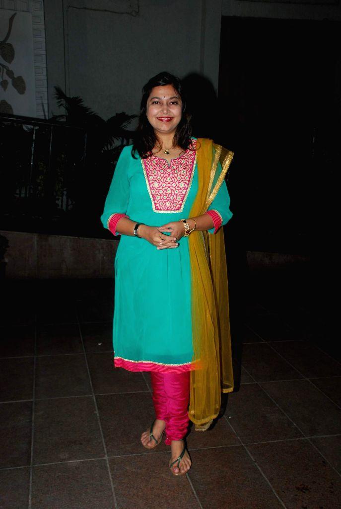 Marathi singer Neha Rajpal during the music launch of Marathi film Kaakan in Mumbai on March 11, 2015.
