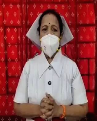 Mumbai Mayor, an ex-nurse, Kishori Pednekar, 57, dons the role of Miss Nightingale, to boost the morale of healthcare workers in the war against virus, at NYL Nair Hospital, today. Pednekar's move ...