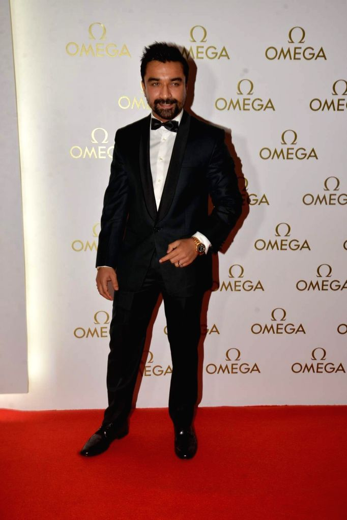 Model - Actor Ajaz Khan during the party organised for the launch a product in Mumbai, on June 18, 2015. - Ajaz Khan