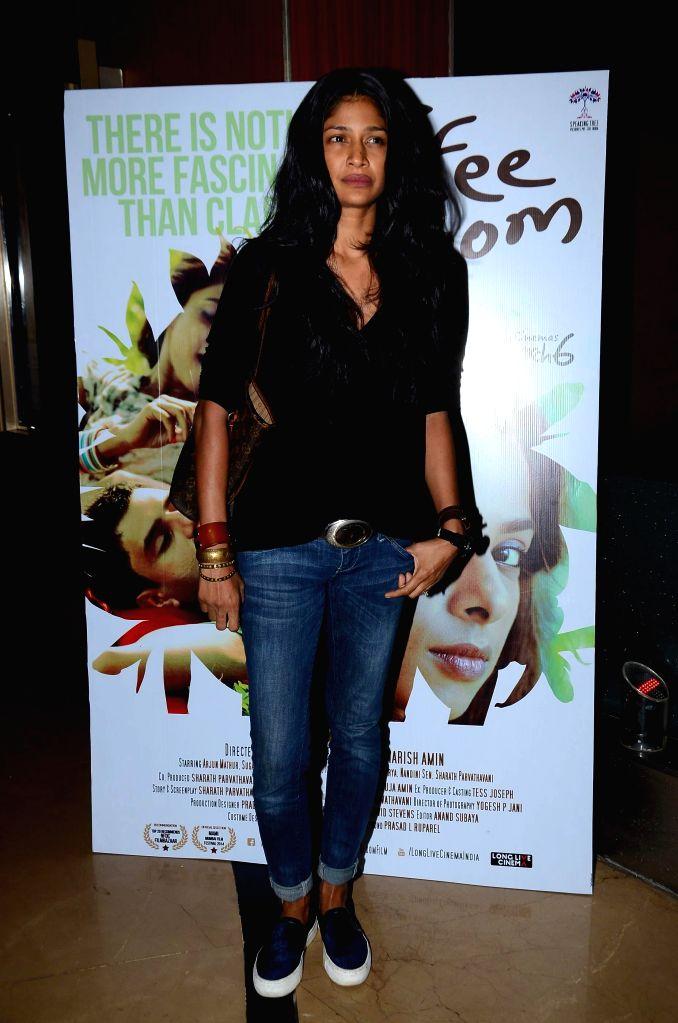Model Carol Gracias during screening film Coffee Bloom in Mumbai on March 5, 2015. - Carol Gracias
