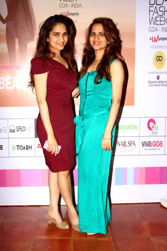 Model during the fitting and interaction session of India Beach Fashion Week (IBFW) 2015, in Mumbai on Jan. 3, 2015.