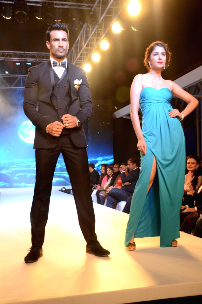 Models during their Evolve Digital India fashion show in Mumbai on Feb 27, 2015.