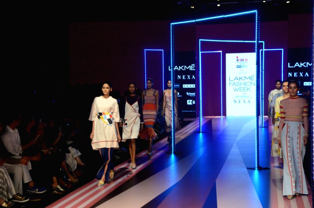 Mumbai: Models showcase fashion designer Suniana Khera's creations at the Gen Next edition during Lakme Fashion Week (LFW) Summer/Resort 2019 in Mumbai, on Jan 30, 2019.