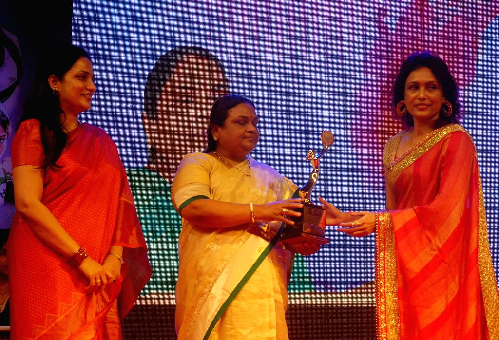 Mrs. Rashmi Thackrey, Neela Satyanarayan and Org. Dr. Bhavna Raj during the `Being Woman`, a special event on International woman`s day, in Mumbai, on March 8, 2015.