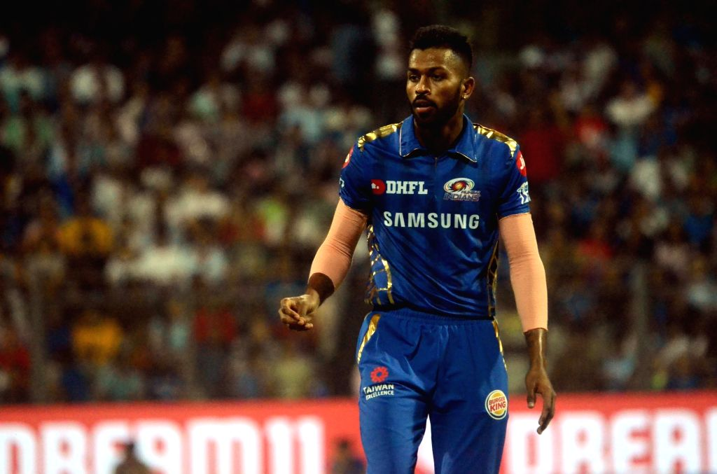 Mumbai: Mumbai Indians' Hardik Pandya during the 31st match of IPL 2019 between Royal Challengers Bangalore and Mumbai Indians at Wankhede Stadium in Mumbai on April 15, 2019. (Photo: Sandip Mahankal/IANS)