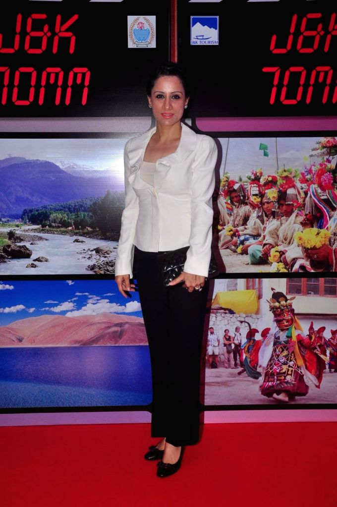 Muralist and Social Worker Rouble Nagi during an event organised by Jammu and Kashmir government to promote J&K as a prime tourist destination and a shooting location for movies, in ...