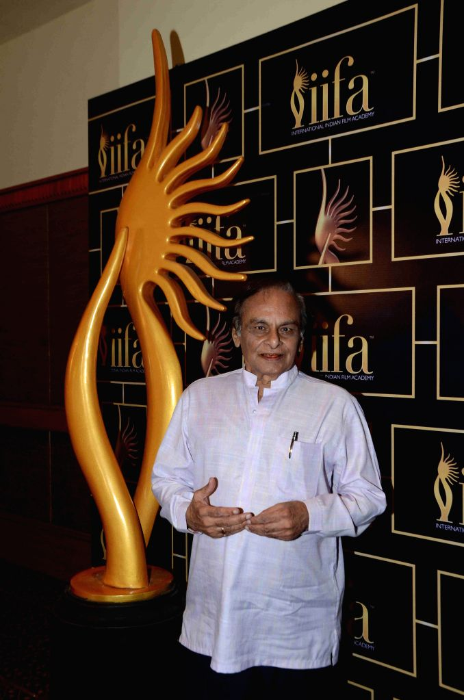 Music composer Anandji Virji Shah during the 16th IIFA Voting Weekend, in Mumbai on March 13, 2015. - Anandji Virji Shah