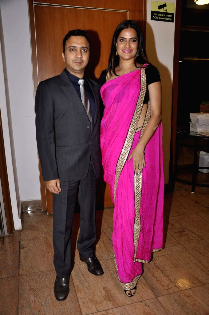 Music composer Ram Sampath with wife and singer Sona Mohapatra during the launch of Resovilla, holiday home (phase 2) in Mumbai, on March 2, 2015.