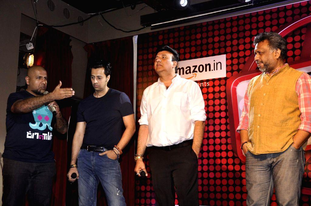 Music director Anu Malik,Salim Merchant filmmaker Anubhav Sinha and music composer Vishal Dadlani during the launch of new reality show India's Digital Superstar (IDS) by Fremantle Media in .. - Malik and Anubhav Sinha