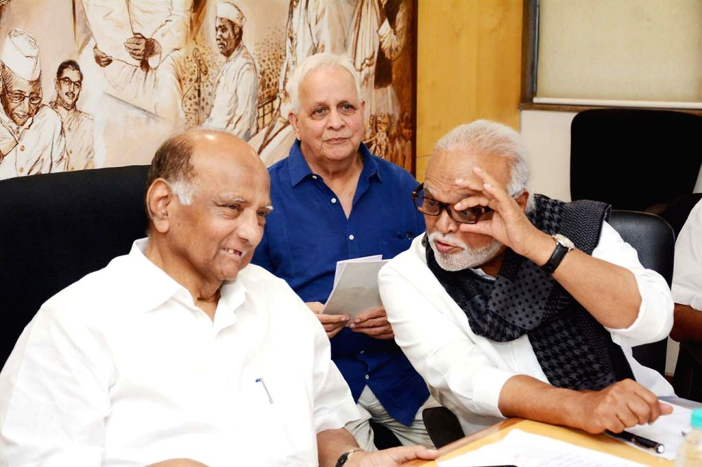 Mumbai: NCP chief Sharad Pawar attends a party meeting in Mumbai on Feb 14, 2019. (Photo: IANS)