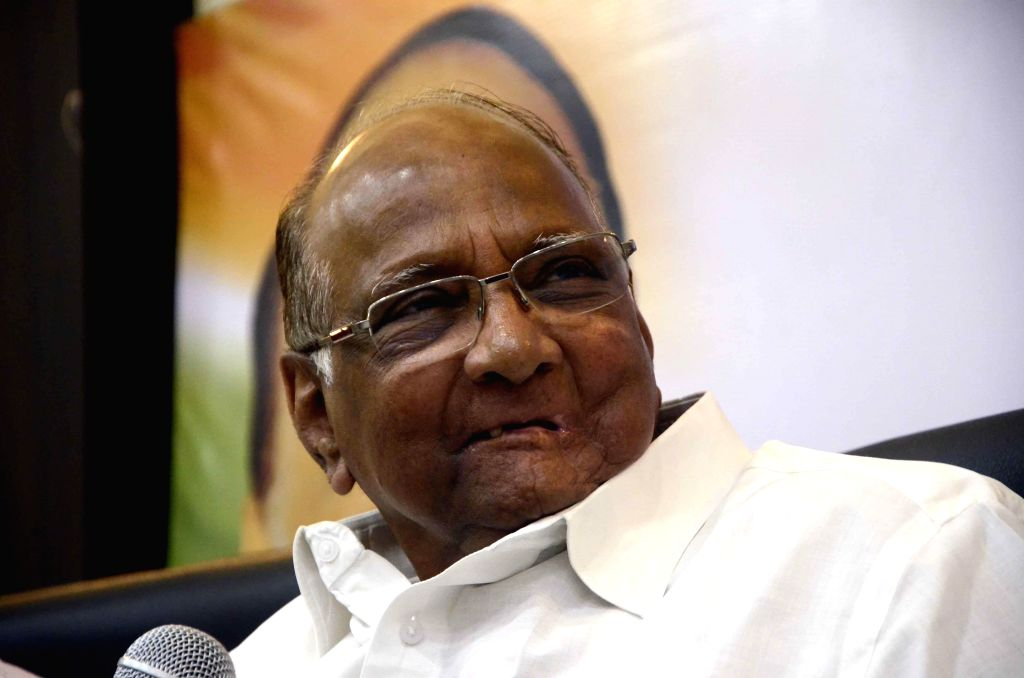 NCP chief Sharad Pawar during a press conference in Mumbai, on Nov 10, 2014.
