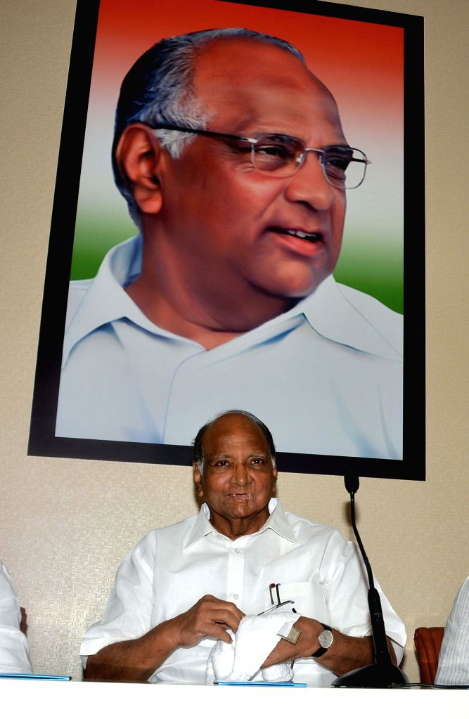 NCP president Sharad Pawar during a state party leaders meeting at Party headquarter in Mumbai on Feb. 3, 2015.