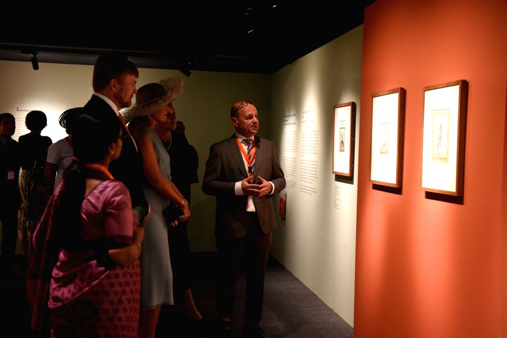 Mumbai: Netherlands King Willem-Alexander and Queen Maxima during the inauguration of a first ever collaborative exhibition titled 'India & The Netherlands in the Age of Rembrandt' in Mumbai on Oct 16, 2019. (Photo: IANS)