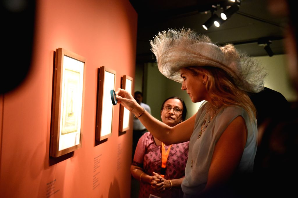 Mumbai: Netherlands Queen Maxima during the inauguration of a first ever collaborative exhibition titled 'India & The Netherlands in the Age of Rembrandt' in Mumbai on Oct 16, 2019. (Photo: IANS)
