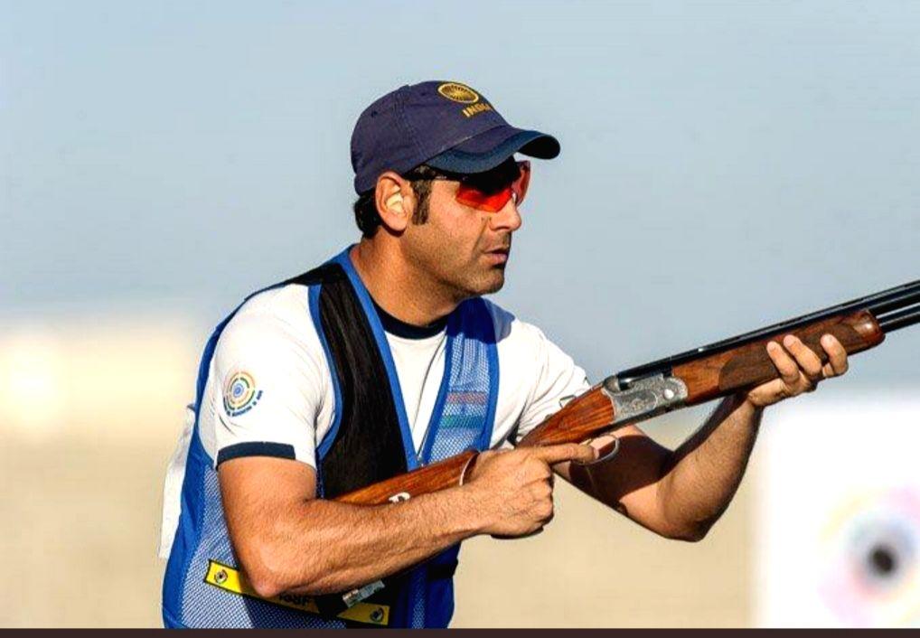 Mumbai : Olympic bound skeet shooters  Mairaj Ahmad Khan. - Mairaj Ahmad Khan