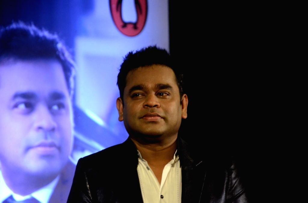 "Mumbai: Oscar winning musician A.R. Rahman during the launch of his biography ""Notes of a Dream: The Authorized Biography of A.R. Rahman"" in Mumbai on Nov 3, 2018. (Photo: IANS)"