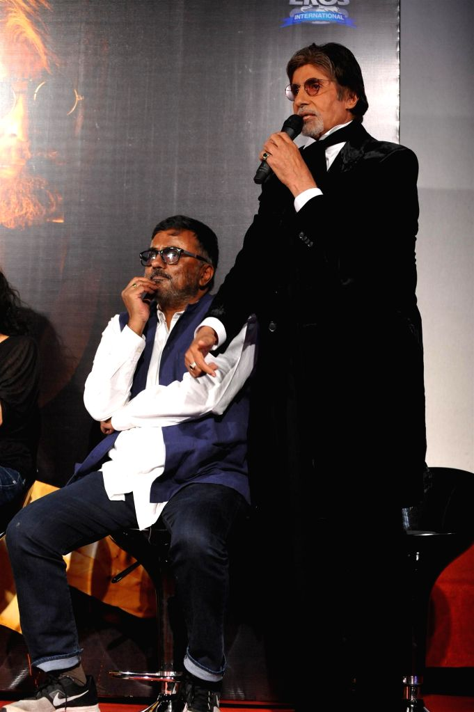 P. C. Sreeram, Cinematographer and filmmaker and actor Amitabh Bachchan during the trailer launch of upcoming film SHAMITABH in Mumbai on Jan 6, 2015. - Amitabh Bachchan