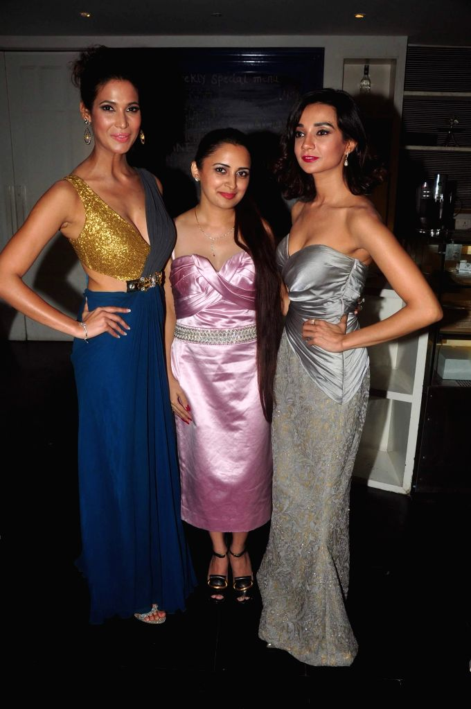 Prachi Mishra, Jaspinder Kaur and Ira Dubey during the music launch of film Dilliwali Zaalim Girlfriend in Mumbai on March 9, 2015. - Prachi Mishra and Jaspinder Kaur