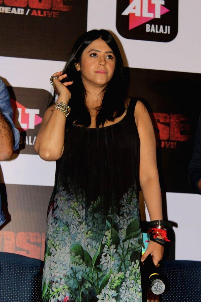 "Mumbai: Producer Ekta Kapoor during the trailer launch of upcoming web-series ""Bose: Dead/Alive"" in Mumbai on Aug 18, 2017. - Ekta Kapoor"