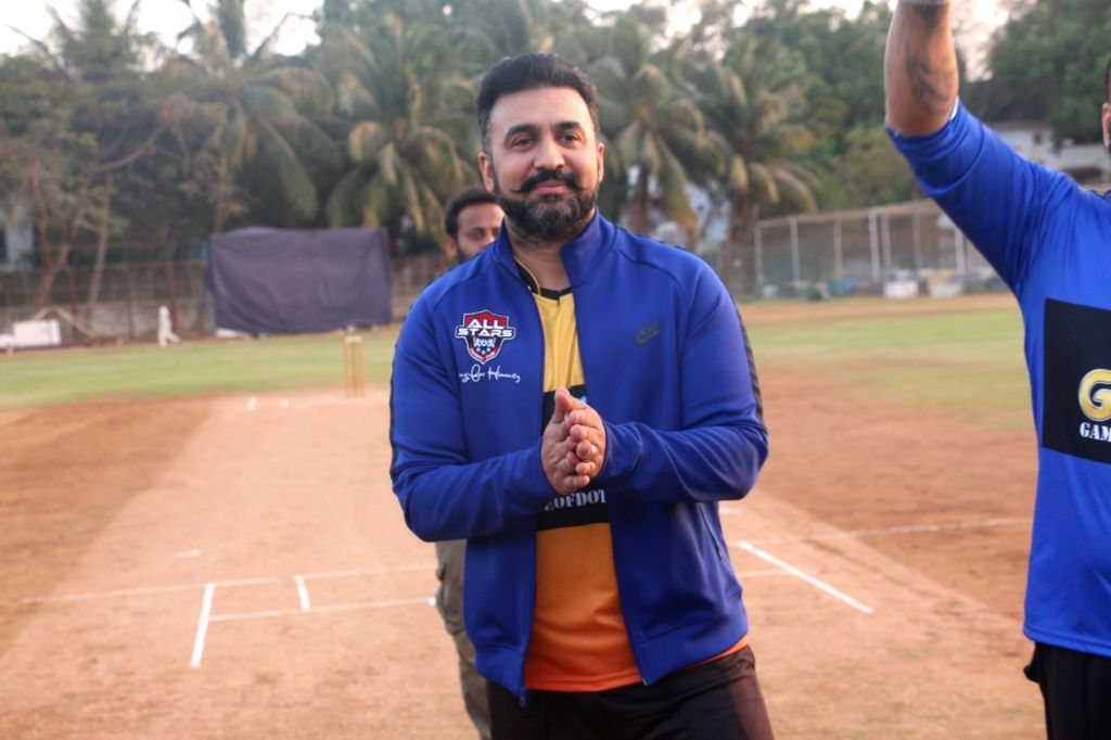 Mumbai: Raj Kundra, husband of  actress Shilpa Shetty at a celebrity cricket match hosted by Raj Kundra Foundation in Mumbai, on March 7, 2019. (Photo: IANS) - Shilpa Shetty and Raj Kundra