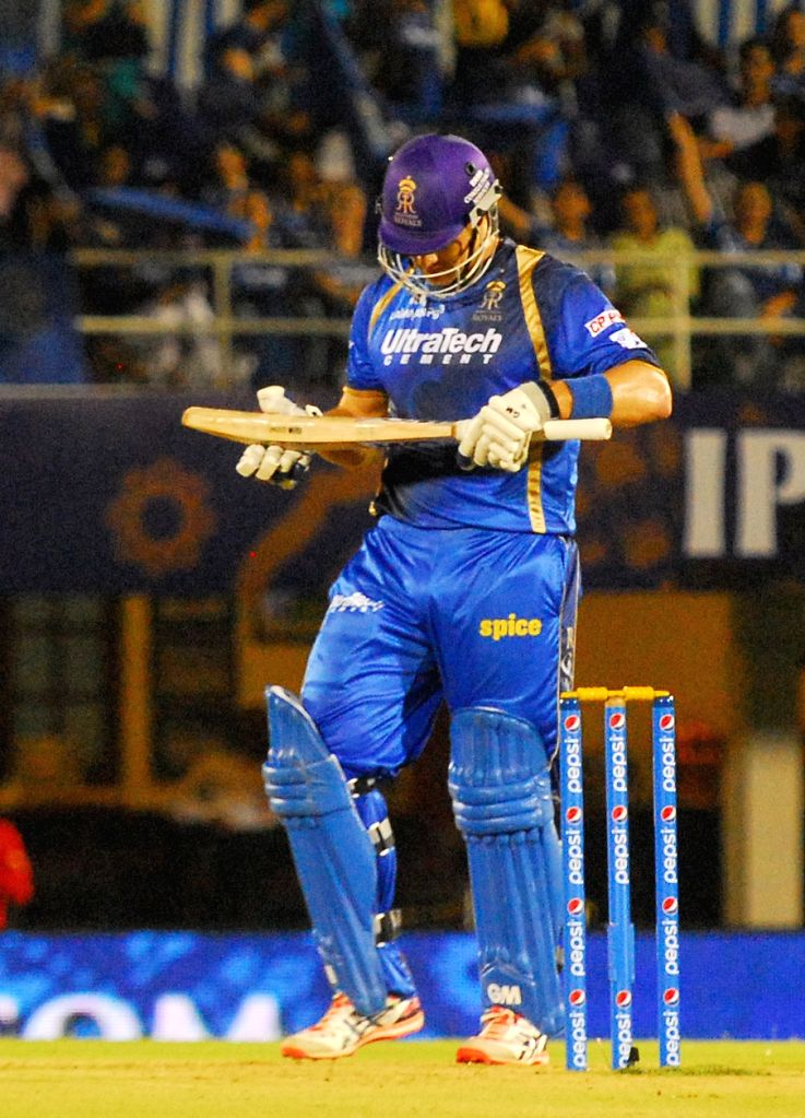 Rajasthan Royals batsman Shane Watson during an IPL-2015 match between Rajasthan Royals  and Delhi Daredevils at the Brabourne Stadium in Mumbai, on May 3, 2015. - Shane Watson