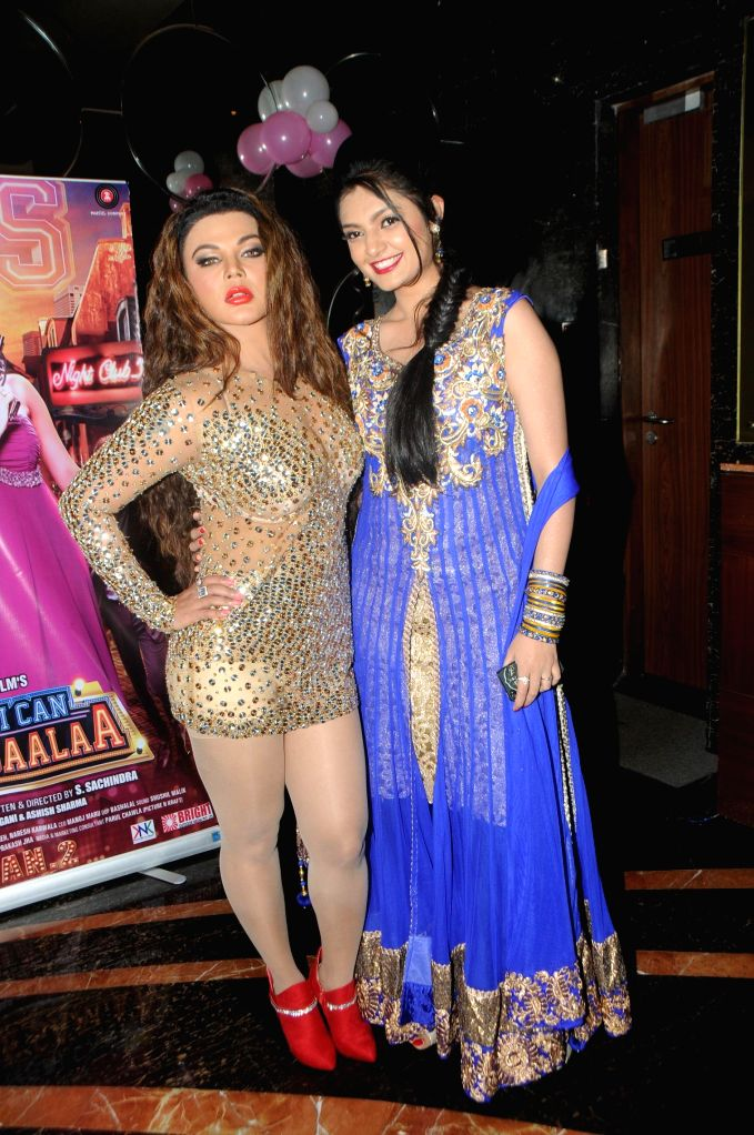 Rakhi Sawant with Ashima Sharma during the trailer launch of film Mumbai Can Dance Saala in Mumbai, on Dec. 22, 2014. - Ashima Sharma