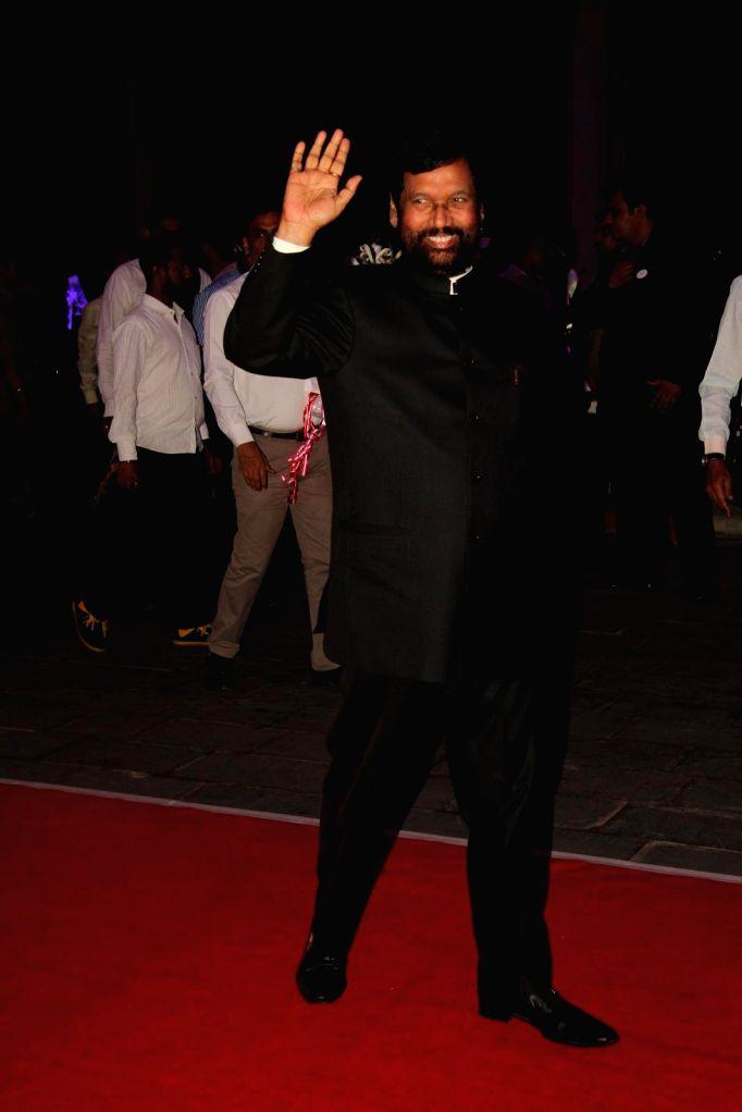 Ram Vilas Paswan, President, Lok Janshakti Party during Shatrugan Sinha's son Kush wedding reception in Mumbai, on Jan. 19, 2015. - Shatrugan Sinha