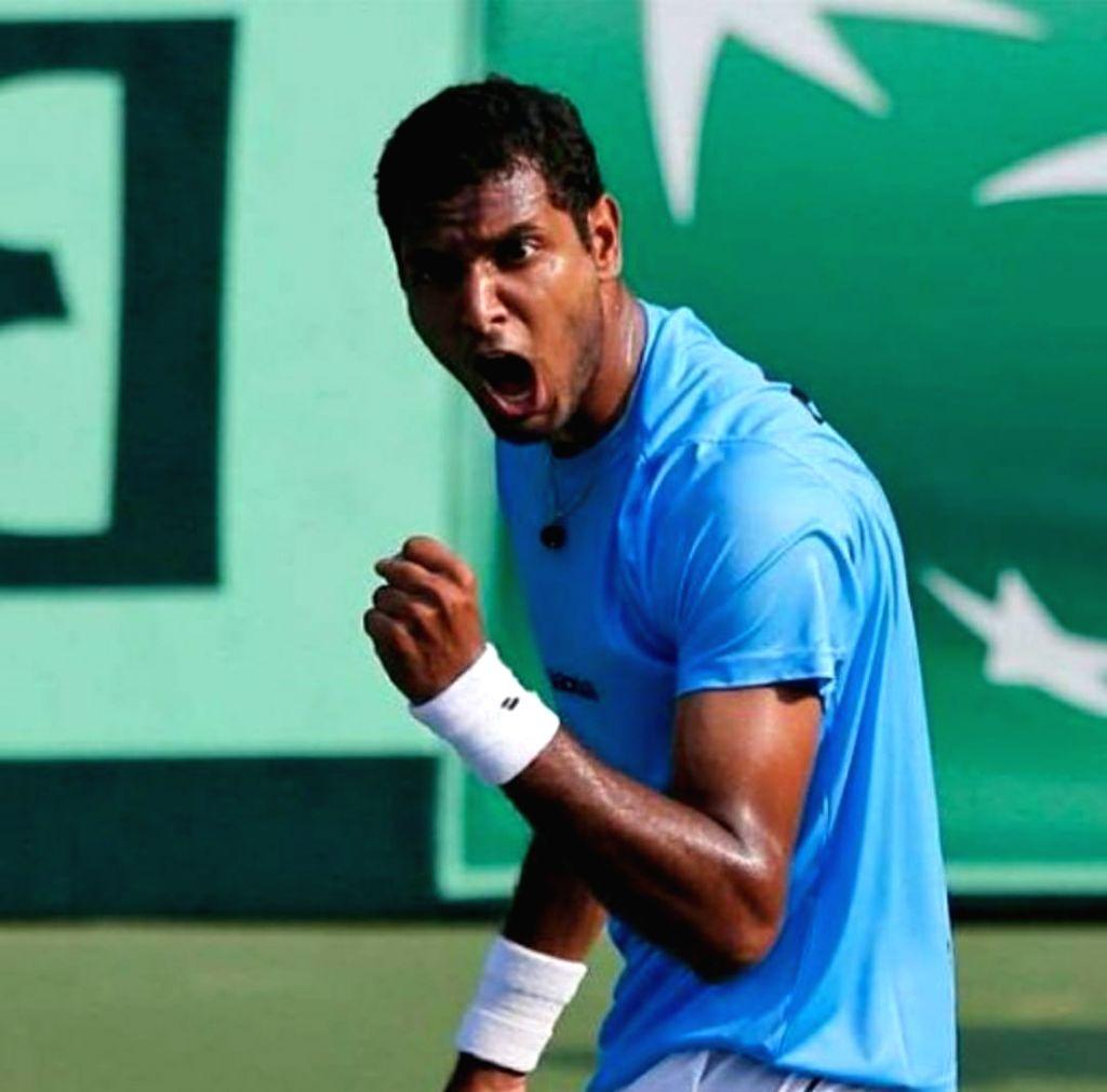 Mumbai : Ramkumar Ramanathan wins in the 2nd round of Wimbledon qualifiers.