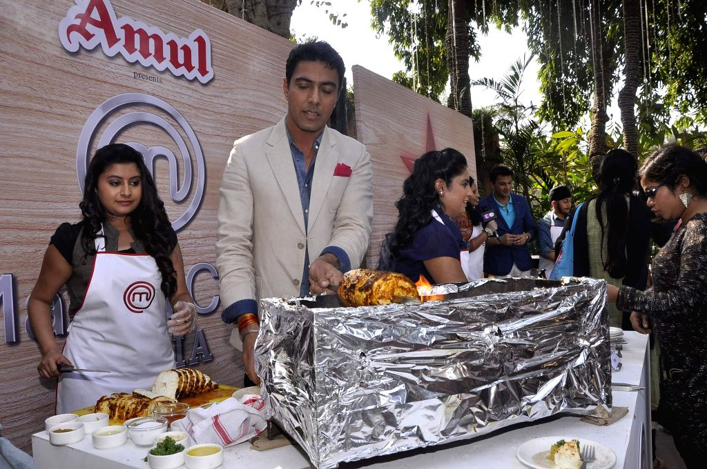 Ranveer Brar during the launch of MasterChef India- 4 in Mumbai, on jan. 09, 2015.