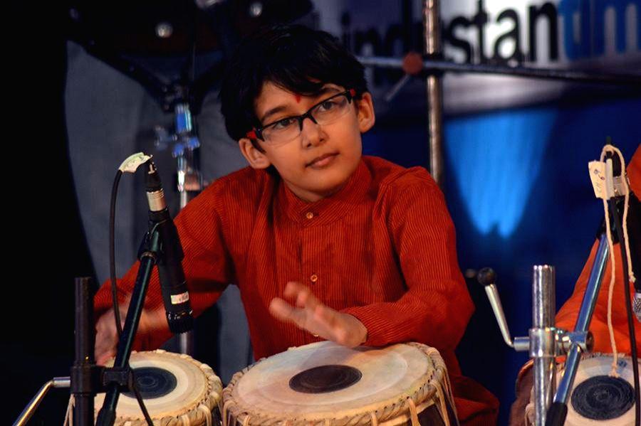 Rayaan Nene during the inauguration of Kala Ghoda festival in Mumbai on Feb. 7, 2015.